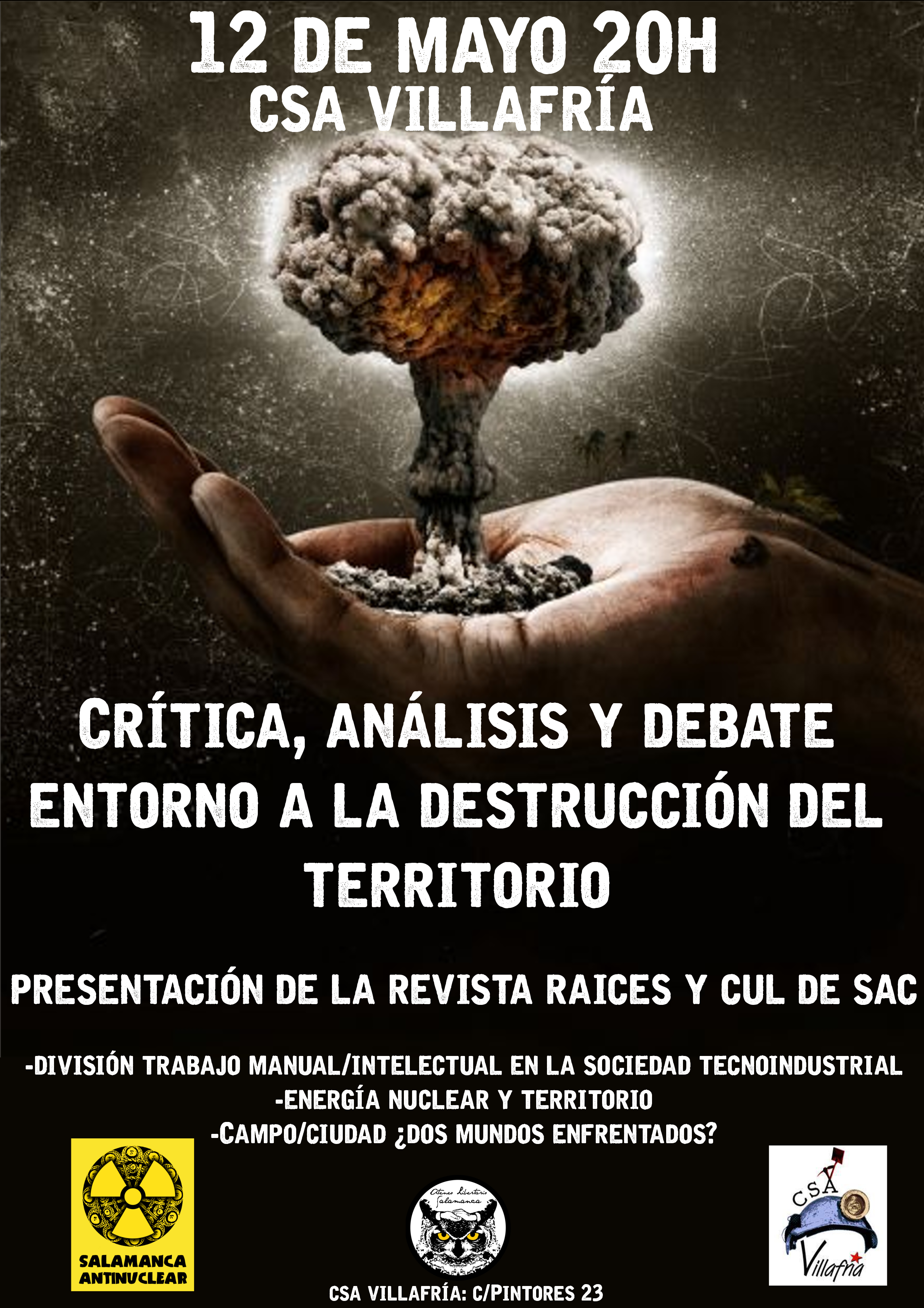 La destrucción del territorio (Salamanca, 12 de mayo)   Ediciones El ...